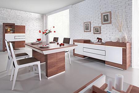 Futureline meble nowoczesne do salonu białe orzech