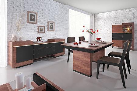 Futureline meble nowoczesne do salonu korpus orzech brązowe