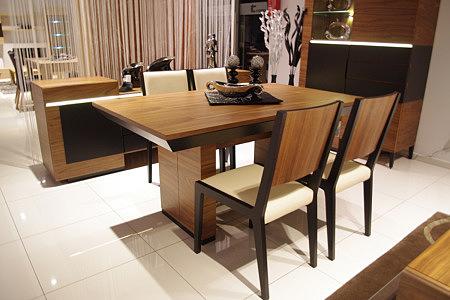 Futureline stół do jadalni salonu orzech amerykański lakierowany