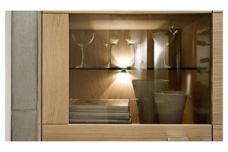 Granna classic meble pokojowe dębowe półki szklane
