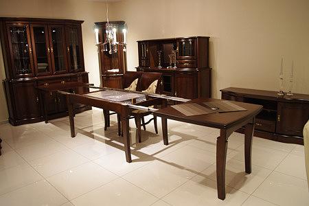 Hera stół rozkładany w stylu klasycznym dębowe lite drewno