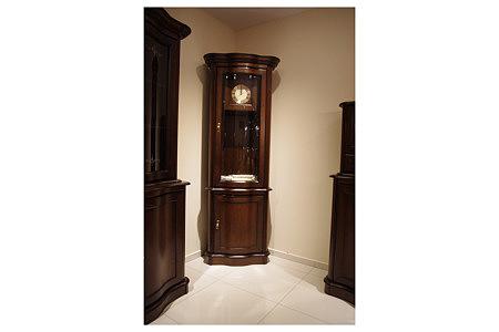 Hera zegar stylowy kolumna lite drewno dębowe