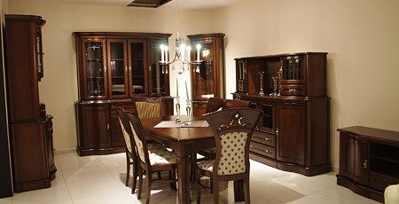 Hera zestaw mebli klasycznych do stylowego salonu z elementami z litego drewna