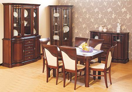 Hera zestaw mebli klasycznych lite drewno dębowe