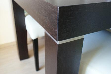 Kalifornia aluminiowy element ozdobny w nodze stołu