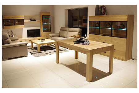 Massimo meble do salonu z litego drewna dębowego