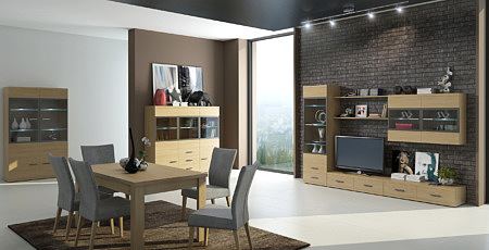 Massimo nowoczesne meble dębowe z litego drewna mini