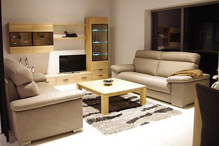 Massimo zestaw mebli do salonu z drewna dębowego