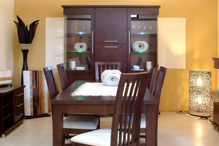 milano meble pokojowe stół krzesła ażurowe oparcia