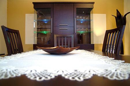 milano stół dębowy serwera biała
