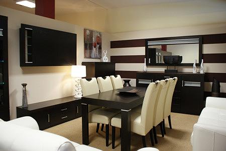 Kolekcja salon Monaco pokój dzienny meble dębowe ciemne metalowe aluminiowe uchwyty