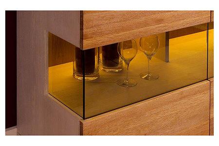 Nebroo witryna szkło podświetlenie półek