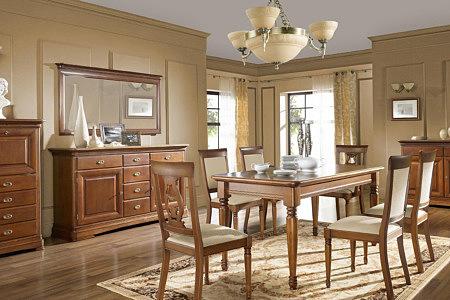 Kolekcja salon Noblesse pokój dzienny meble stylowe Włoskie barwa orzecha patynowanego kolor bursztynu dyskretny efekt kornika