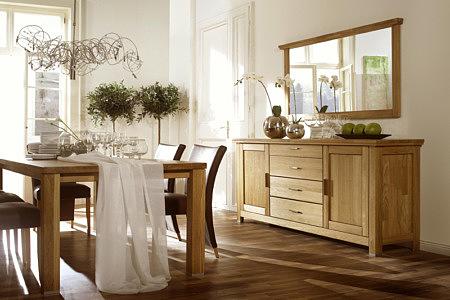 porto meble dębowe do salonu stół krzesła komoda lustro