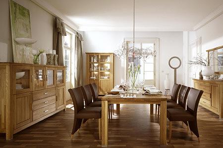 Kolekcja salon Porto pokój dzienny zestaw solidnych masywnych mebli dębowych nowoczesnych o klasycznych kształtach