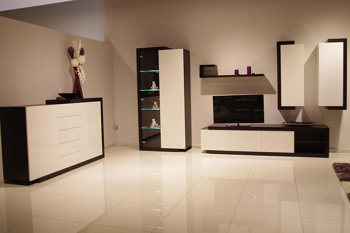 24b8e89218b172 RODOS - nowoczesne meble do salonu, dębowe, lakierowane wysoki ...