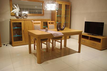 Sara2 stół dębowy z możliwością rozkładania okleinowany