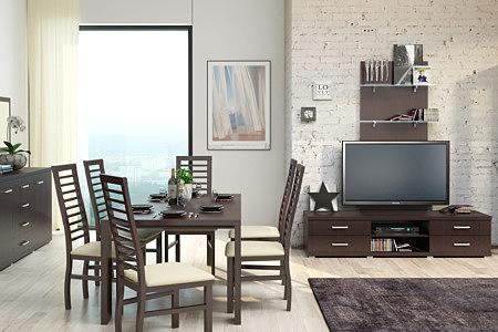 Kolekcja salon Valencia pokój dzienny lekki a zarazem funkcjonalny zestaw mebli dostępny z naturalnej okleiny olchowej oraz dębowej