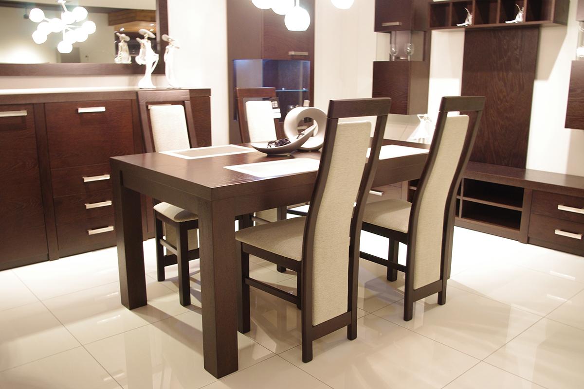 Venus Stół Dębowy Z Krzesłami Okleinowany Tc Meble