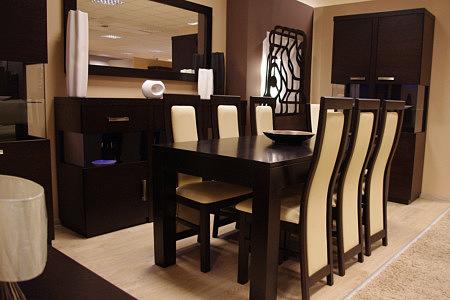 Venus stół z krzesłami okleina dębowa