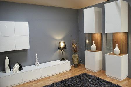 zeus zestaw mebli lakierowanych na biało