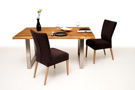 Mamut aranżacja stół z jednego kawałka drewna dębowego