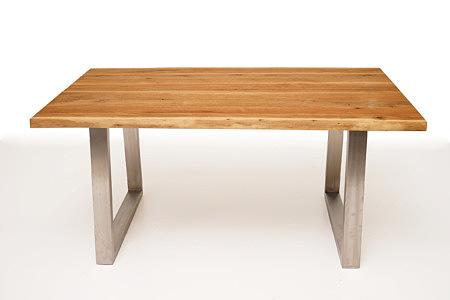 Mamut industrialny stół dębowy na metalowych nogach