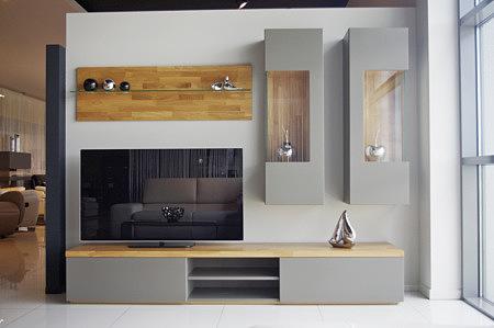 Apollo nowoczesne meble do salonu w kolorze szarym