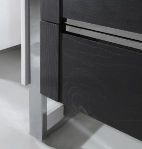 artvision detal masywne metalowe nogi szafka brązowe fronty