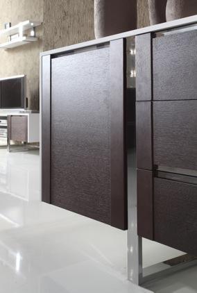 artvision detal szafki z brązowymi frontami i metalowymi dodatkami