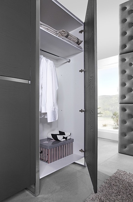 artvision szara szafa do sypialni korpus biały
