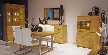 Kolekcja mebli do salonu Atlanta dębowe nowoczesne meble z litego drewna