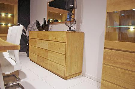 atlanta nowoczesna dębowa komoda do salonu