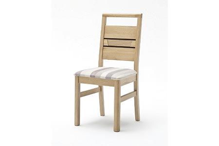 Hatillo nowoczesne krzesło dębowe z ryflowaniem na oparciu