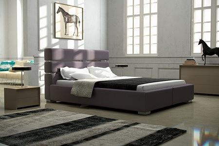 Hugo tapicerowane nowoczesne łóżko do sypialni z zagłówkiem