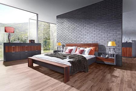 Larix nowoczesne meble do sypialni grafitowe szare modrzew wędzony karbowany