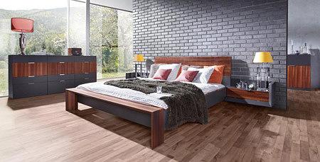 larix nowoczesne meble do sypialni grafitowe szare modrzew wędzony karbowany mini