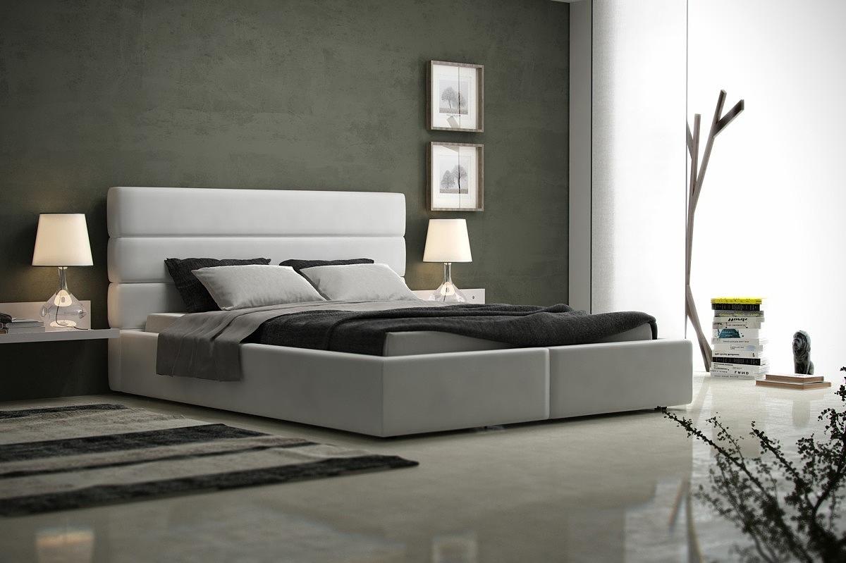 luna tradycyjne nowoczesne łóżko do sypialni z zagłówkiem z ozdobnym pikowaniem