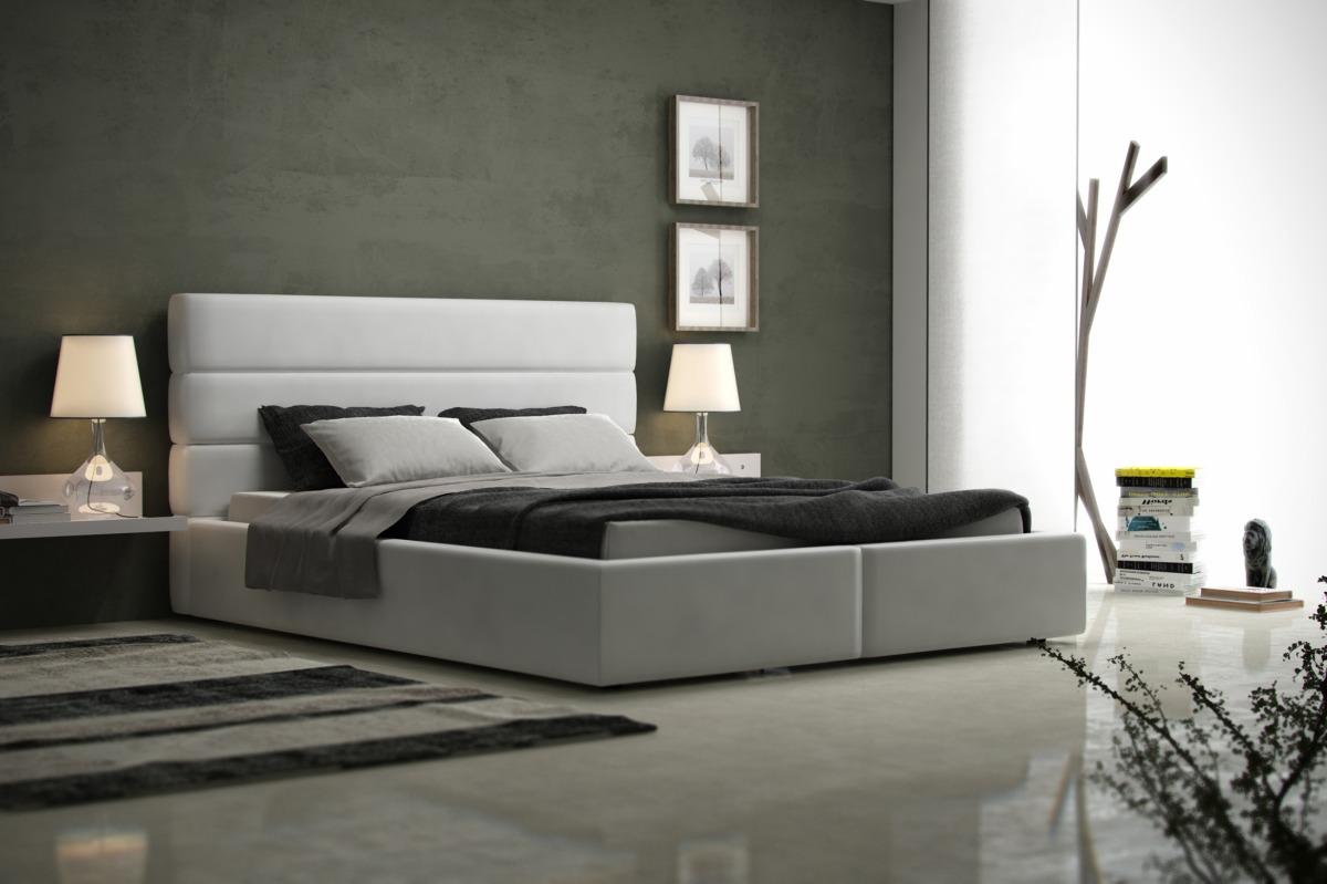 Luna Tradycyjne Nowoczesne łóżko Do Sypialni Z Zagłówkiem Z