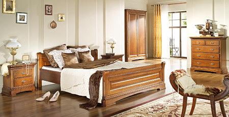 noblesse meble sypialnia stylowa włoski styl orzech patynowany mini