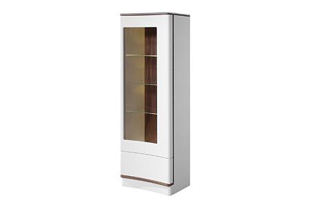 Ovo biała wityna z brązowymi wstawkami drzwi szkło