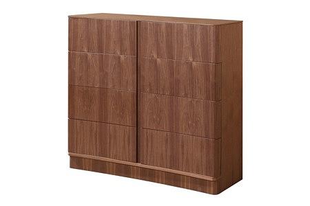 Ovo brązowa szafka z szufladami