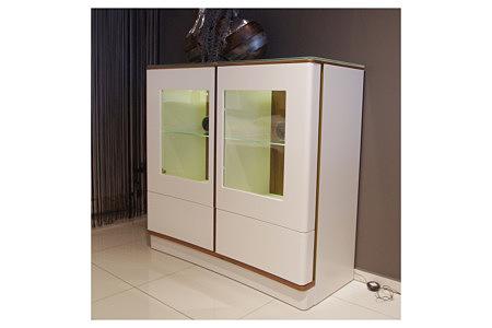 Ovo szafka stojąca drzwi przeszklone oświetlenie półki szklane
