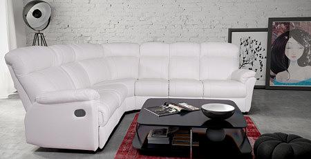 relax III biały narożnik skórzany nowoczesny komplet wypoczynkowy mini