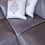 saphire ozdobne przeszycia siedziska w narożniku skórzanym