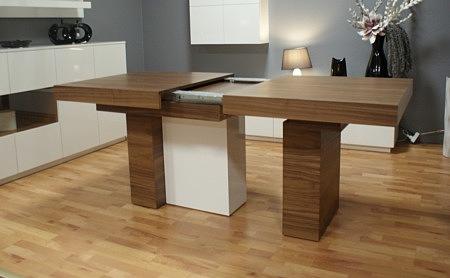 Stół na jednej nodze rozkładany