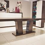stół rozkładany na kolumnie dąb