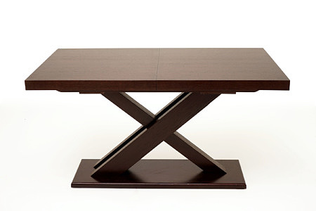 Tytus stół modern dębowy na jednej nodze w kształcie litery x