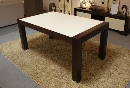 stół barcelona ze szkłem lacobel