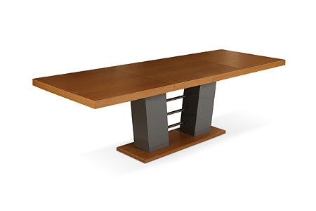 Cyprian2 stół rozkładany z masywną nogą w kształcie kolumny